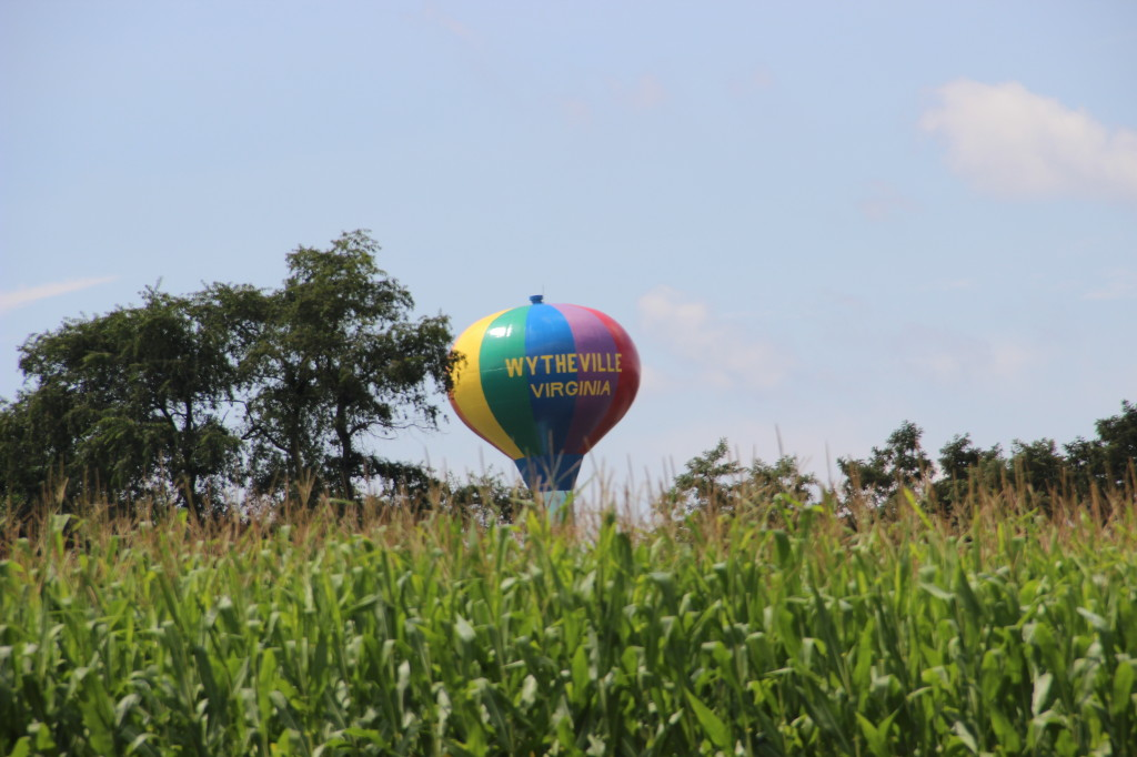 "Wytheville, Virginia's famous ""Hot Air Balloon Water Tower"""