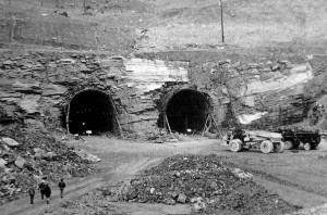 Construction on the East River Mountain Tunnel