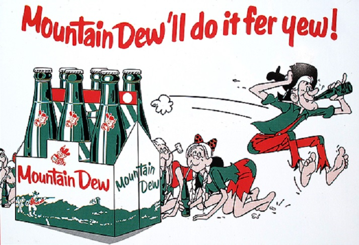 Image: Early Mountain Dew ad