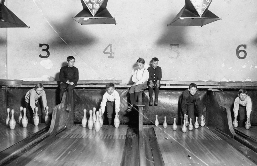 Photo: Pin Boys working in Arcade Bowling Alley, Trenton, N.J. Courtesy: Library of Congress