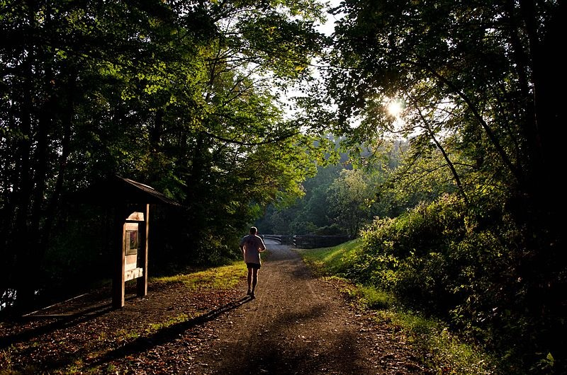 Jogger on New River Trail State Park,  PHOTO: Virginia State Parks