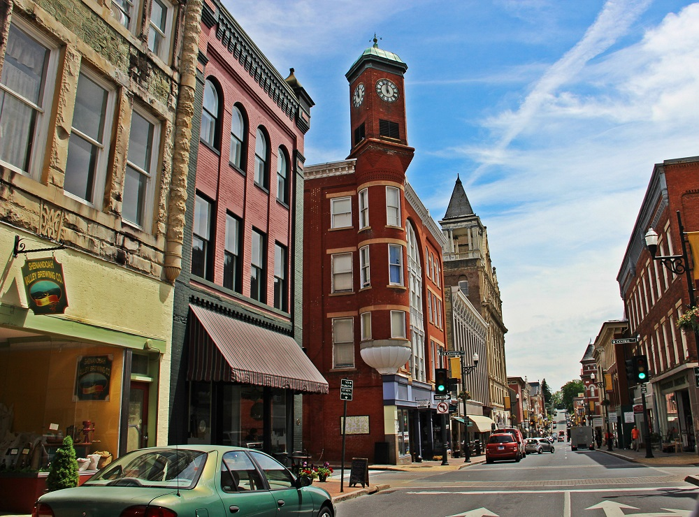 Downtown Staunton. Appalachian Magazine