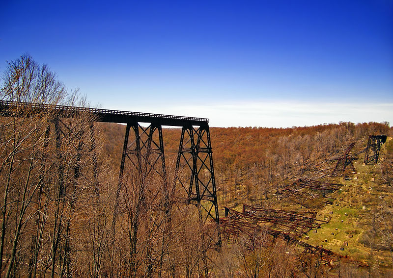 "PHOTO: Kinzua Bridge after tornado, courtesy of ""Nicholas from Pennsylvania""."