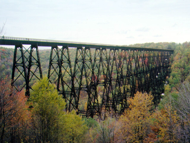 PHOTO: Kinzue Bridge prior to collapse, Courtesy of Pennsylvania Bureau of State Parks