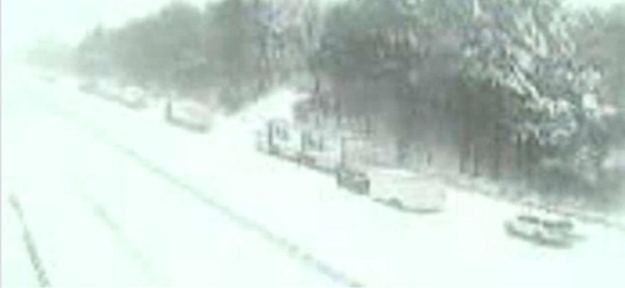 Photo: Traffic stalled on Interstate 81, VDOT Traffic Camera. Courtesy of Virginia Department of Transportation