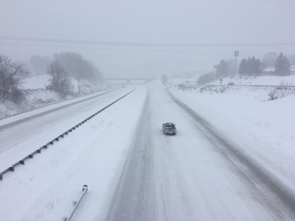 Photo: Interstate 81 in Wythe County, Virginia. Courtesy of Wytheville Public Safety.