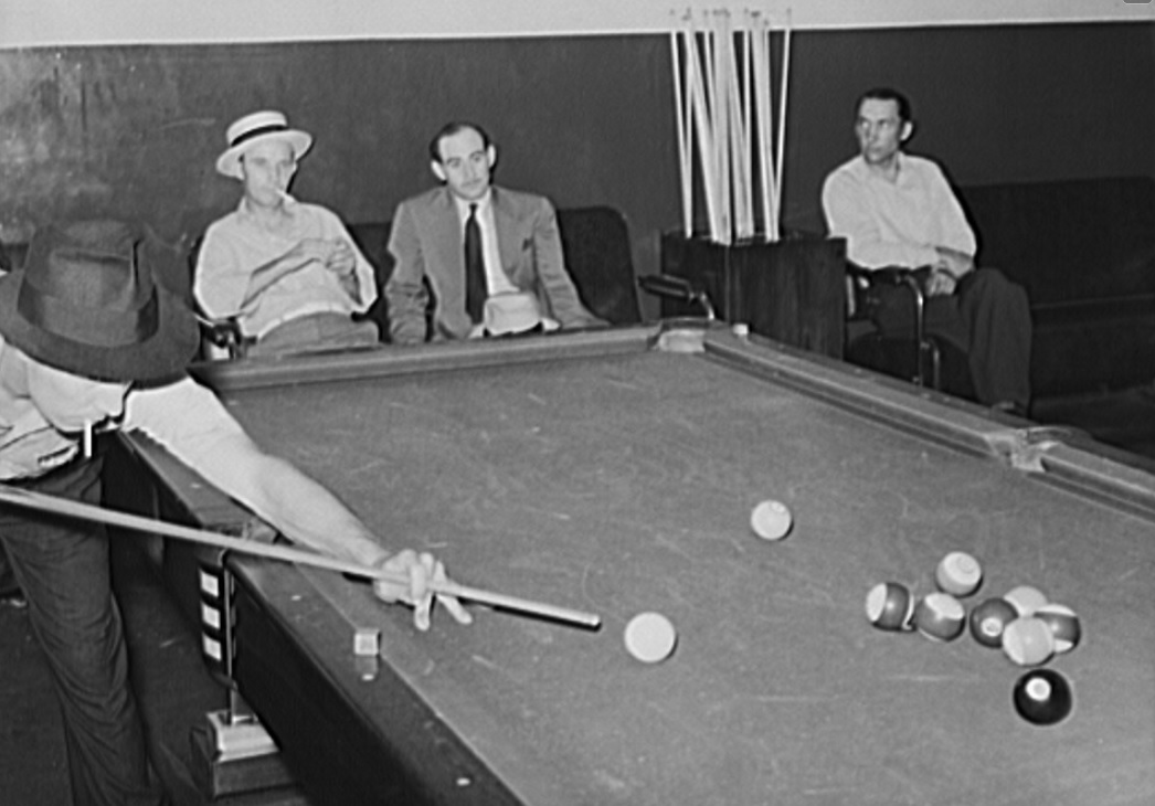 Photo: Pool hall. Elkins, West Virginia, June 1939; Vachon, John, US Farm Security Administration